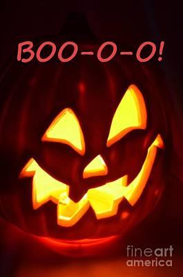 Photograph - Halloween Boo-o-o by Mary Deal
