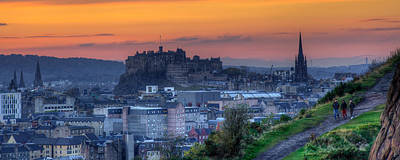 Photograph - Edinburgh Castle At Sunset by Karsten Moerman