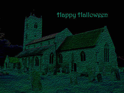 Photograph - Halloween Churchyard by Stephanie Grant