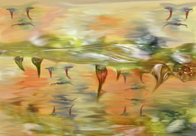 Halloween Clown Morning Tear Drops Reflection Art Print by Angela A Stanton