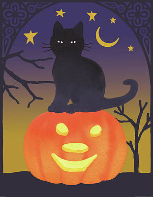 Painting - Halloween Critter I by Beth Grove