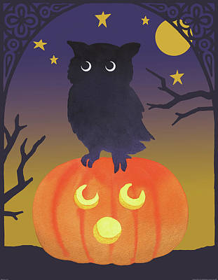 Halloween Night Painting - Halloween Critter IIi by Beth Grove