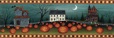 Halloween Eve Crescent Moon Art Print
