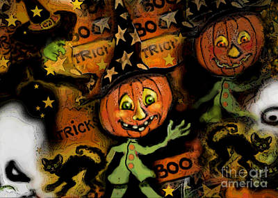Digital Art - Halloween Fest by Carol Jacobs