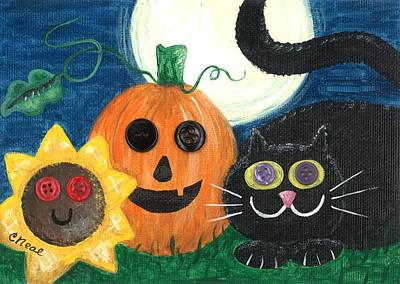 Mixed Media - Halloween Fun by Carol Neal