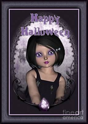 Digital Art - Halloween Gem by JH Designs