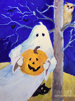Painting - Halloween Ghost by Diane Ursin
