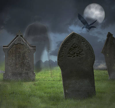 Churchyard Photograph - Halloween Graveyard by Amanda Elwell