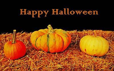 Photograph - Halloween Pumpkins by Chris Berry