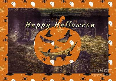 Photograph - Halloween Greetings 2 by Joan-Violet Stretch