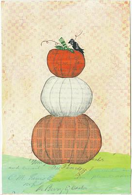 Pumpkins Painting - Halloween IIi by Courtney Prahl
