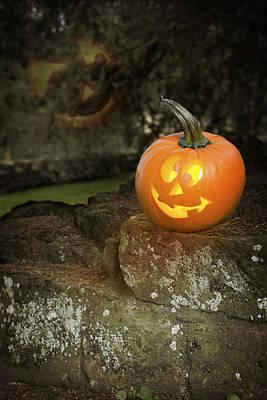 Photograph - Halloween Jack O Lanterns by Amanda Elwell