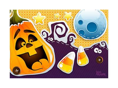 Candy Corn Digital Art - Halloween Jubilee by Jen Street