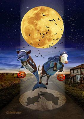 Halloween - Last Stop? Print by Douglas Martin