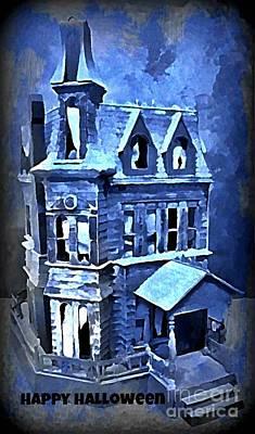 Haunted House Digital Art - Halloween Mansion by John Malone