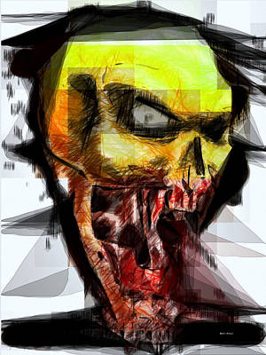 Digital Art - Halloween Mask by Rafael Salazar