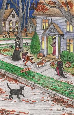 Ryta Painting - Halloween Memories by Margaryta Yermolayeva