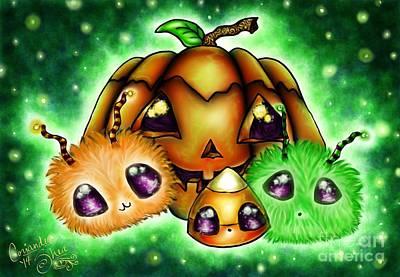 Halloween Menagerie Art Print by Coriander  Shea