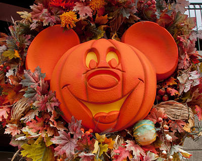 Photograph - Halloween Mickey by John Black