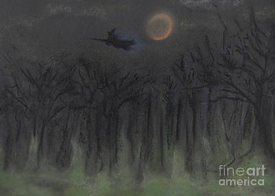 Painting - Halloween Night By Jrr by First Star Art