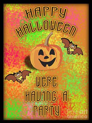 Halloween Party Invitation  Original