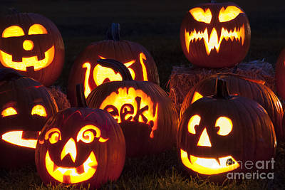 Photograph - Halloween Pumpkins by Juli Scalzi
