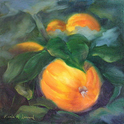 California Painting - Harvest Pumpkins by Karin  Leonard
