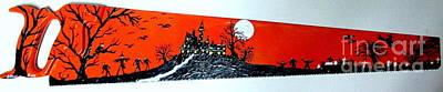 Halloween Painted Saw Original by Jeffrey Koss