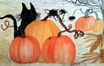 Painting - Halloween Scene by Gerry Smith