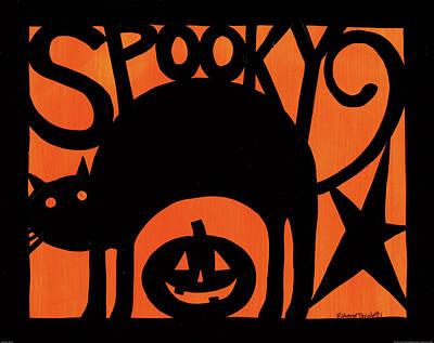 Pumpkins Painting - Halloween Silhouette II by Anne Tavoletti