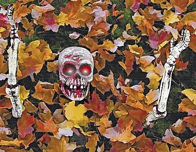 Halloween Skeleton Art Print by Steve Ohlsen