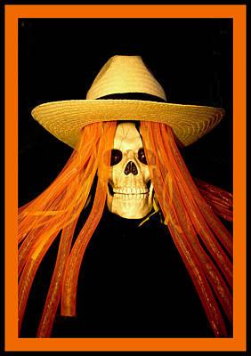 Halloween Skull Border Art Print by Barbara Snyder