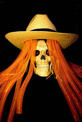 Saint Barbara Wall Art - Digital Art - Halloween Skull by Barbara Snyder