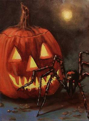 Halloween Spider Original by Tom Shropshire