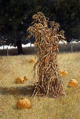 Art Print featuring the painting Halloween by Tom Wooldridge