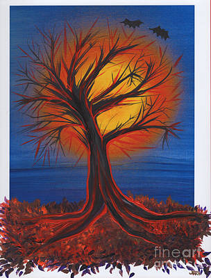 Halloween Tree By Jrr Art Print by First Star Art