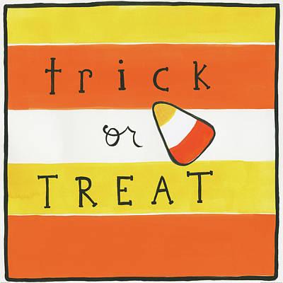Halloween Trick Or Treat Candy Corn Art Print by Melissa Averinos