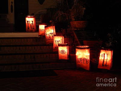 Photograph - Halloween Warning by Michael Hoard