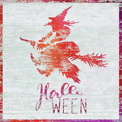 Halloween Sign Painting - Halloween Witch by Cora Niele