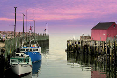 Halls Harbour Evening Art Print by Brian Chase