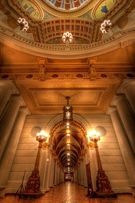 Halls Of Gold Art Print by Lori Deiter
