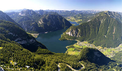 Hallstatt Lake Austria Art Print by Chevy Fleet