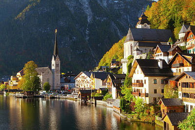 Green Color Photograph - Hallstatt, Salzkammergut by Miles Ertman