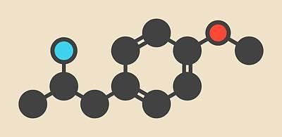 Psychedelic Photograph - Hallucinogenic Drug Molecule by Molekuul
