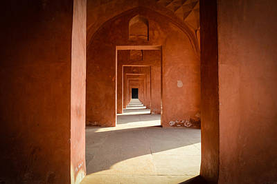 Photograph - Hallway At The Taj Mahal In India by Brandon Bourdages