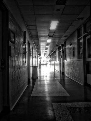 Linoleum Photograph - Hallway by H James Hoff