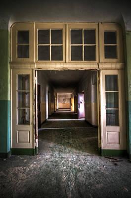 Grim Digital Art - Hallway by Nathan Wright