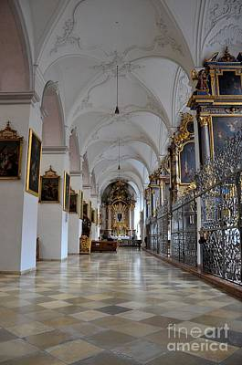Art Print featuring the photograph Hallway Of A Church Munich Germany by Imran Ahmed