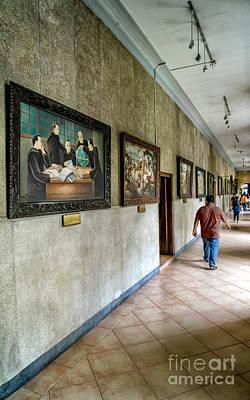 Hallway Of Paintings Print by Adrian Evans