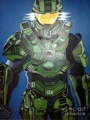 Artificial Intelligence Painting - Halo Master Chief by Jin Kai